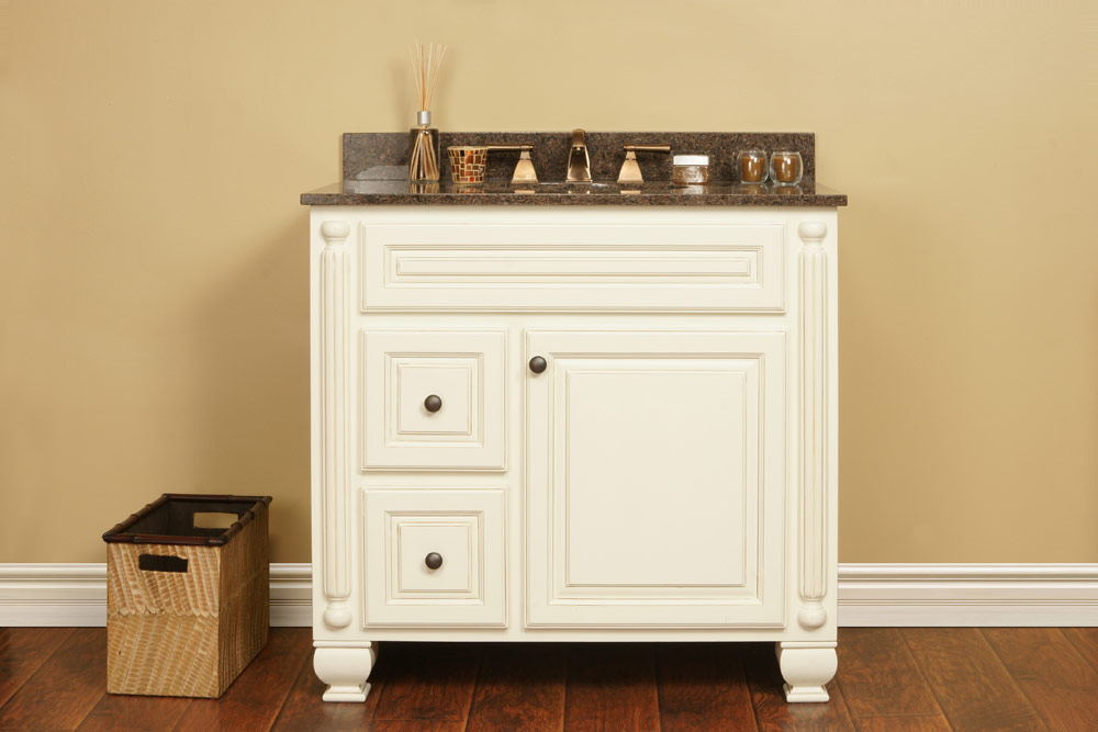 country style wooden white bathroom cabinets wholesale