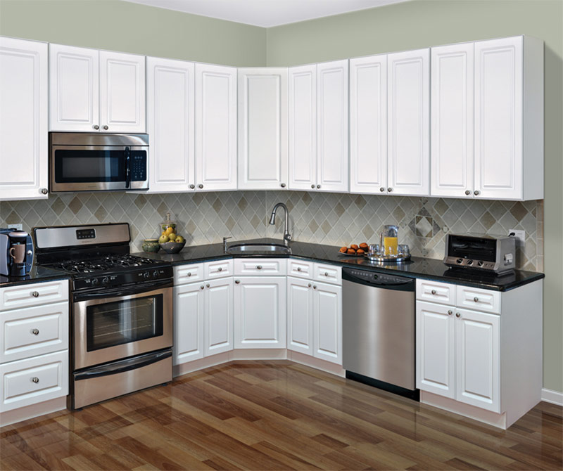 Pin skibrite white thermofoil discount rta kitchen for Thermofoil cabinets